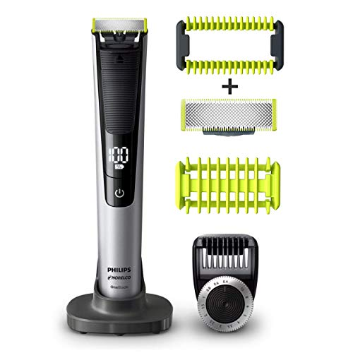 Philip Norelco OneBlade Pro Kit, Hybrid Electric Trimmer and...